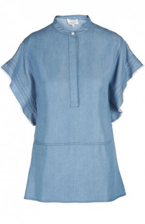 Блуза 3.1 Phillip Lim. Цвет: темно-синий