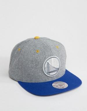 Mitchell & Ness Бейсболка Golden State Warriors. Цвет: серый