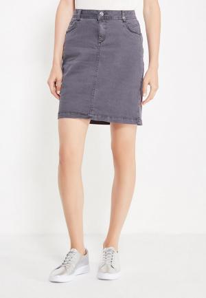 Юбка джинсовая s.Oliver. Цвет: серый