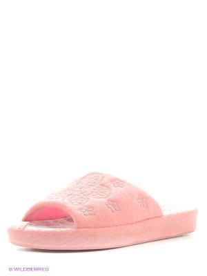 Тапочки Let,s. Цвет: розовый, оранжевый