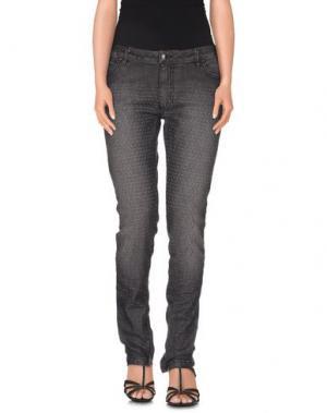 Джинсовые брюки TOM REBL. Цвет: стальной серый