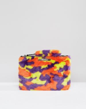 House of Holland Сумка-клатч камуфляжной расцветки. Цвет: мульти