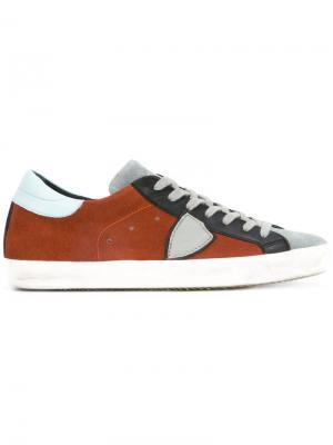 Кроссовки с панельным дизайном Philippe Model. Цвет: жёлтый и оранжевый