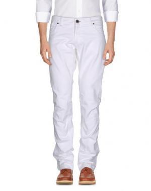 Повседневные брюки ONE SEVEN TWO. Цвет: белый
