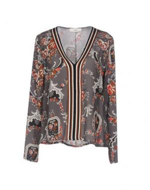 Блузка SUOLI. Цвет: серый