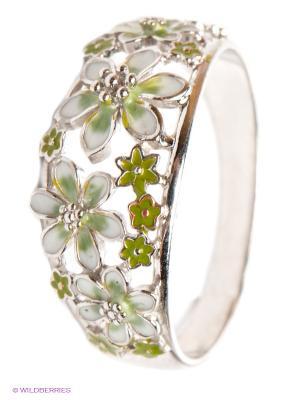 Кольцо Lovely Jewelry. Цвет: зеленый, белый