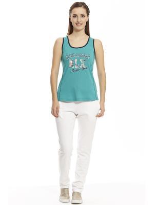 Пижама с брюками RELAX MODE. Цвет: белый, голубой