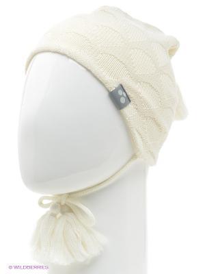 Вязаная шапка HUPPA. Цвет: белый