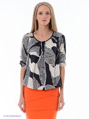 Блузка ESPRIT. Цвет: черный, белый