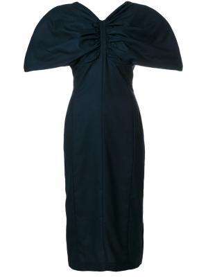 Puff sleeves dress Jacquemus. Цвет: синий