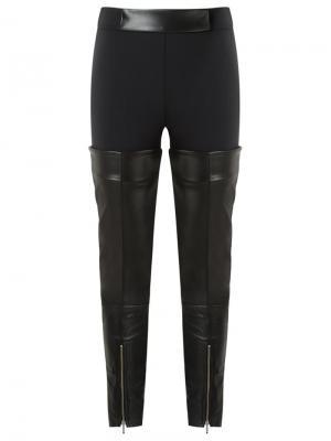 Leather panels trousers Gloria Coelho. Цвет: чёрный