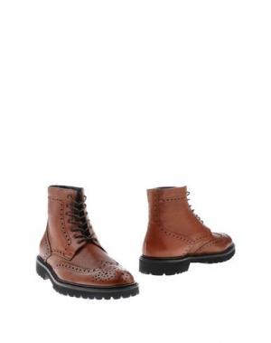 Полусапоги и высокие ботинки BOEMOS. Цвет: ржаво-коричневый
