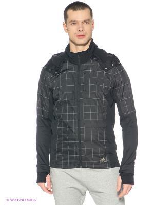 Куртка SMT JACKET MR Adidas. Цвет: черный, серый