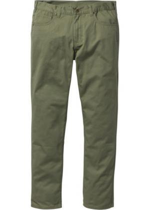Прямые классические брюки, низкий + высокий рост (U S) (оливковый) bonprix. Цвет: оливковый