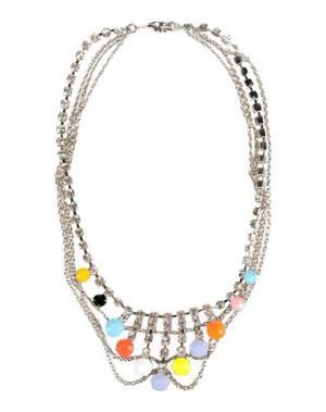 Ожерелье TOM BINNS. Цвет: серебристый