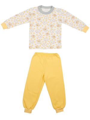 Пижама KIDONLY. Цвет: светло-коричневый, желтый, белый