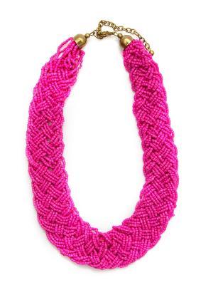 Колье Indira. Цвет: розовый, малиновый
