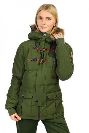 Куртка утепленная женская  Ponoka Khaki Picture Organic. Цвет: зеленый