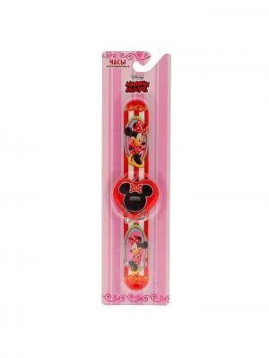 Часы, Минни Маус Disney. Цвет: красный, розовый, черный