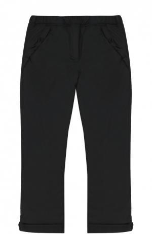 Классические брюки с резинкой на поясе Aletta. Цвет: черный