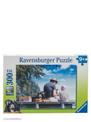 Паззл На рыбалке XXL, 300 шт Ravensburger. Цвет: салатовый, голубой, белый