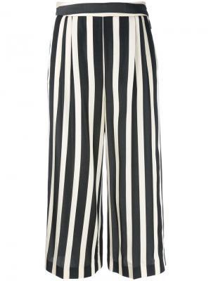 Укороченные брюки в полоску MSGM. Цвет: белый
