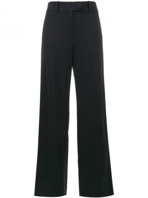 Широкие брюки с блестящую полоску Mira Mikati. Цвет: синий