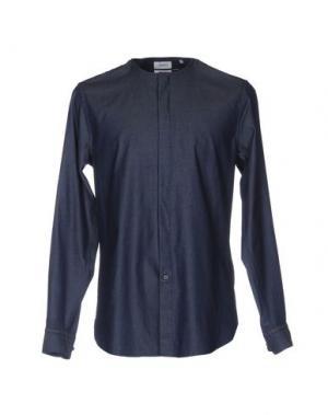 Джинсовая рубашка FAÇONNABLE. Цвет: синий