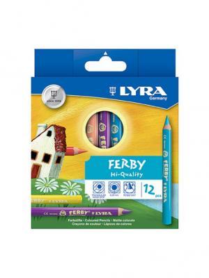 Lyra  ferby 12 цв.цветные карандаши утолщ. Цвет: желтый, зеленый, синий