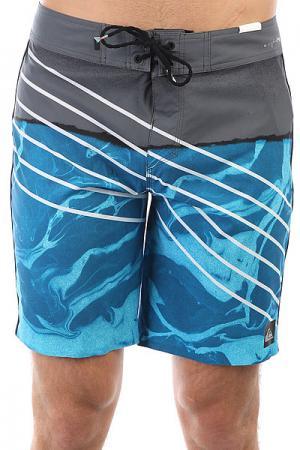 Шорты пляжные  Highlavaslash19 Real Teal Quiksilver. Цвет: синий,серый