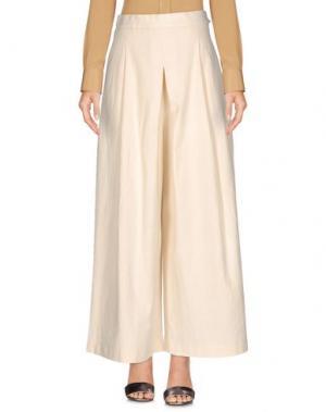 Повседневные брюки NANUSHKA. Цвет: слоновая кость