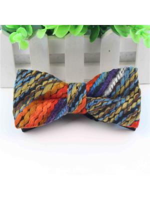 Бабочка Churchill accessories. Цвет: синий, голубой, оранжевый