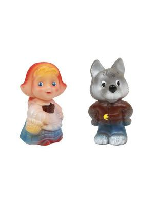 Набор Красная шапочка и волк Огонек. Цвет: серый