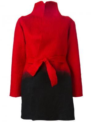Пальто с эффектом градиент Sybilla. Цвет: красный