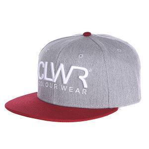 Бейсболка  Cap Grey Melange CLWR. Цвет: серый,бордовый