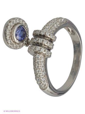 Кольцо JV ДЖЕЙ ВИ. Цвет: синий, серебристый