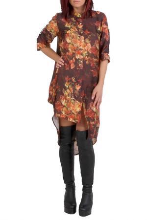 Рубашка JUNONA. Цвет: оранжевый