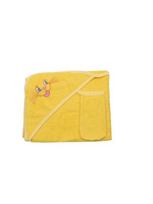 Набор для купания Клякса. Цвет: желтый