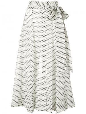 Пышная юбка в горох Lisa Marie Fernandez. Цвет: белый