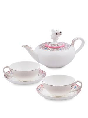 Чайный набор на 2 перс.Примадонна (Pavone) Pavone. Цвет: белый