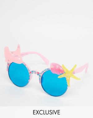 Spangled Розовые солнцезащитные очки Mermaid