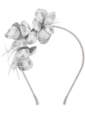 Floral applique headband Gigi Burris Millinery. Цвет: металлический