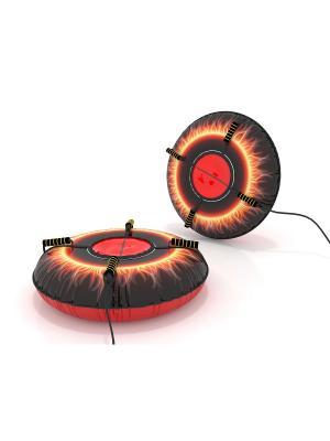 Санки-ватрушка (тюбинг) 110 см Пламя SPORTREST. Цвет: черный, красный, желтый