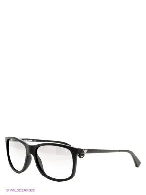 Очки солнцезащитные Emporio Armani. Цвет: черный, прозрачный