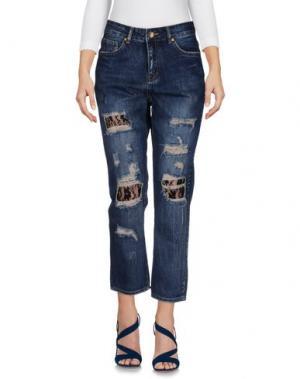 Джинсовые брюки-капри SH by SILVIAN HEACH. Цвет: синий