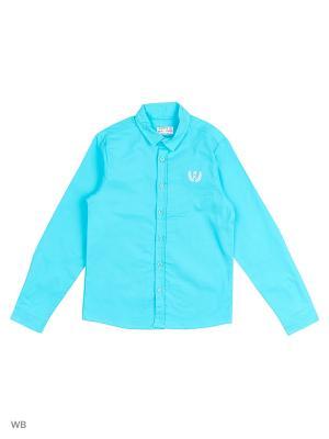 Рубашка  для мальчика Bonito kids. Цвет: бирюзовый