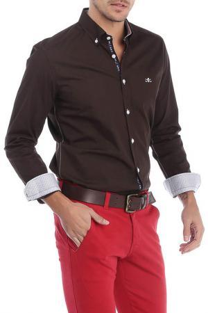 Рубашка Sir Raymond Tailor. Цвет: коричневый