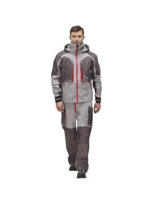 Куртка Риф Prime Nova tour. Цвет: серый, красный