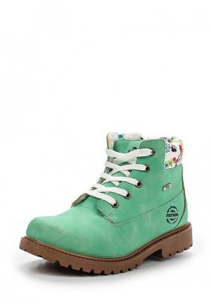 Ботинки Patrol. Цвет: мятный
