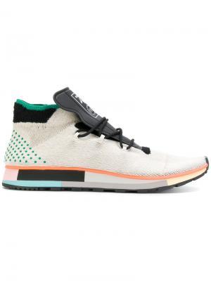 Кроссовки Run Adidas Originals By Alexander Wang. Цвет: телесный